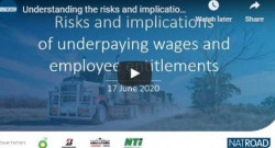 Webinar on Underpaying Wages