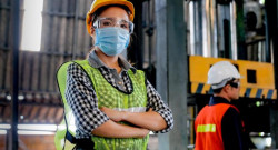 Worker during COVID